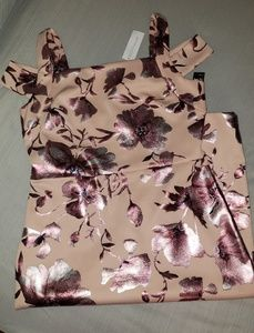 New York & Co Pink Floral Dress NWT